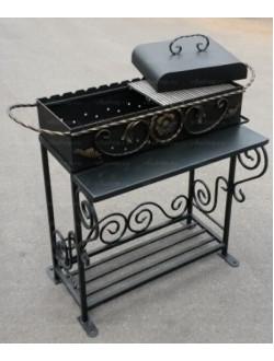 Мангал дачный с решеткой гриль и барбекю (сталь 4 мм)
