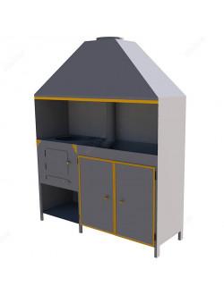 Профессиональный мангал со шкафом
