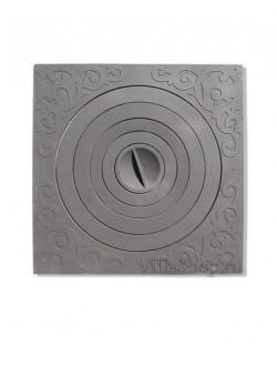 Чугунная плита с кольцами на печь