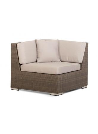 Модуль Беллуно угловой с белыми подушками