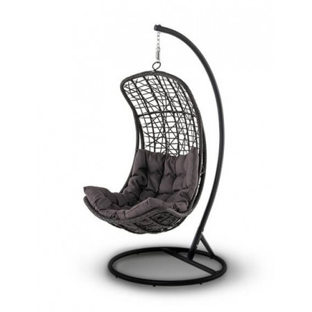 Подвесное кресло качели Виттория коричневое